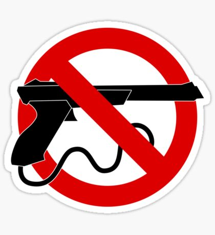 Light Gun Control Sticker