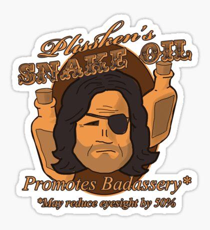 Plissken's Snake Oil Sticker