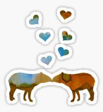 Tapir couple Sticker