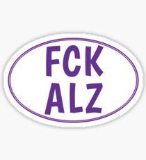 FCK ALZ Oval Sticker