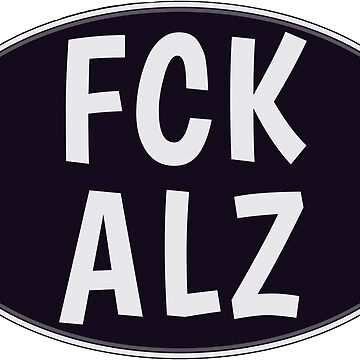FCK ALZ Oval in Grey (Dark Background) by fckalz