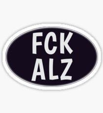 FCK ALZ Oval in Grey (Dark Background) Sticker