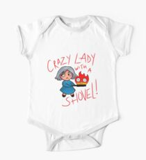 CRAZY LADY WITH A SHOVEL! (Howl's Moving Castle) Kids Clothes