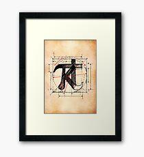 Kate Bush - KT-Pi Framed Print