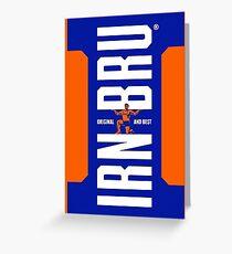 Irn Bru Logo Greeting Card