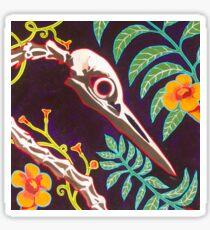 Great Blue Heron Skull Sticker