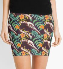 Great Blue Heron Skull Mini Skirt