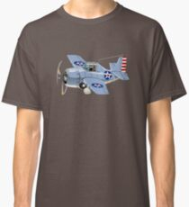 Cartoon Retro Fighter Plane Classic T-Shirt