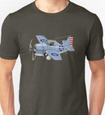 Cartoon Retro Fighter Plane Unisex T-Shirt