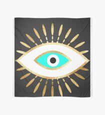 hamsa evil eye gold foil print Scarf