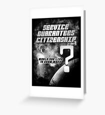 Service Guarantees Citizenship Greeting Card