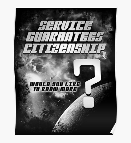 Service Guarantees Citizenship Poster