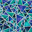 Watercolour Abstract Triangles by Elena  O'Neill
