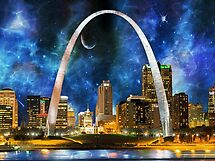 Spacey St. Louis Skyline by FrankieCat