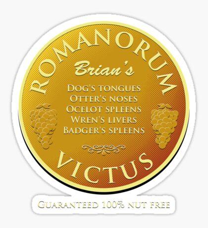 Brian's Romanorum Victus. Sticker