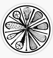 Pure Lacrosse (Black) Sticker