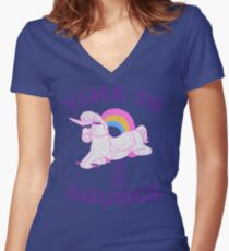 Time To Bounce Women's Fitted V-Neck T-Shirt