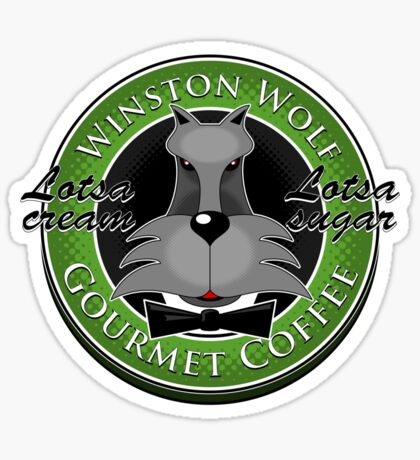Winston Wolf: Gourmet Coffee. Sticker