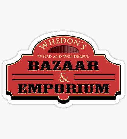 Whedon's Bazaar and Emporium Sticker