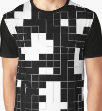 Monochrome Pixels 2 Graphic T-Shirt