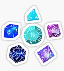 Neon dice Sticker