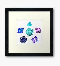 Neon dice Framed Print