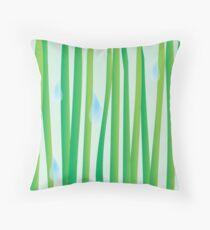 Raindrops on Grassblades Throw Pillow