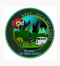 GET TIGHT - SCI - String Cheese Incident - Friends Family Good Times Camping Hiking Seed of Life VW Photographic Print