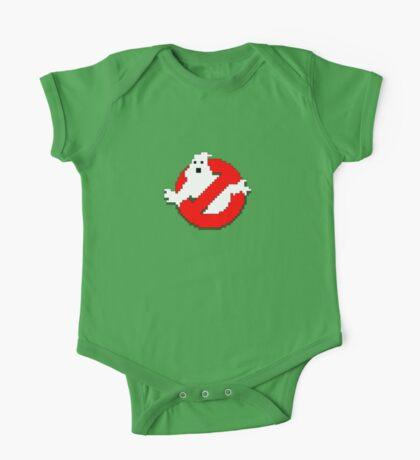 8 bit Ghostbusters logo. Kids Clothes
