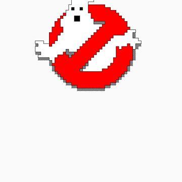 8 bit Ghostbusters logo. by robotrobotROBOT
