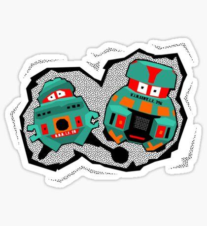 Black Hole Bots Sticker