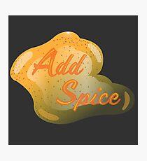 Add Spice Photographic Print
