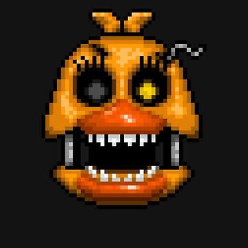 Adventure Nightmare Chica - FNAF World - Pixel Art by GEEKsomniac