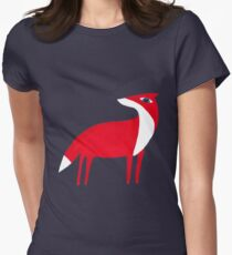 Fox pattern Women's Fitted T-Shirt