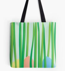Easter Eggs in the Grass Tote Bag