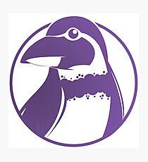 Grape-kun the Penguin Photographic Print