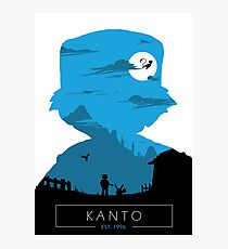 Welcome to Kanto- Blue Ver. Photographic Print