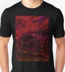 Flora Celeste Ruby Wood texture  Unisex T-Shirt