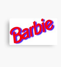 BARBIE - LOGO Canvas Print