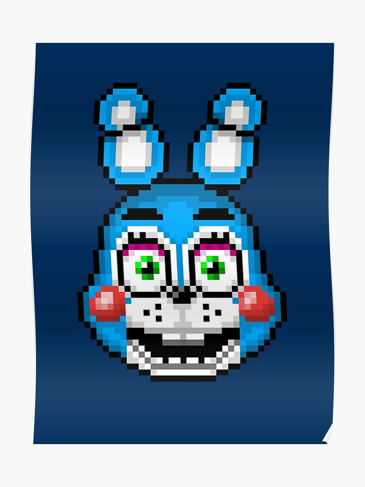 Five Nights At Freddy S 2 Pixel Art Toy Bonnie Poster