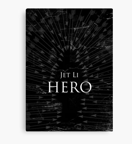 Hero - Black Canvas Print