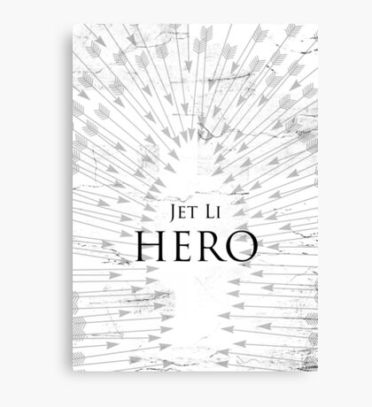 Hero - White Canvas Print