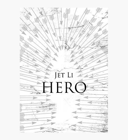 Hero - White Photographic Print