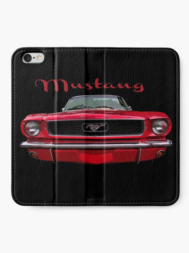 Alternate view of Little Red Mustang iPhone Wallet