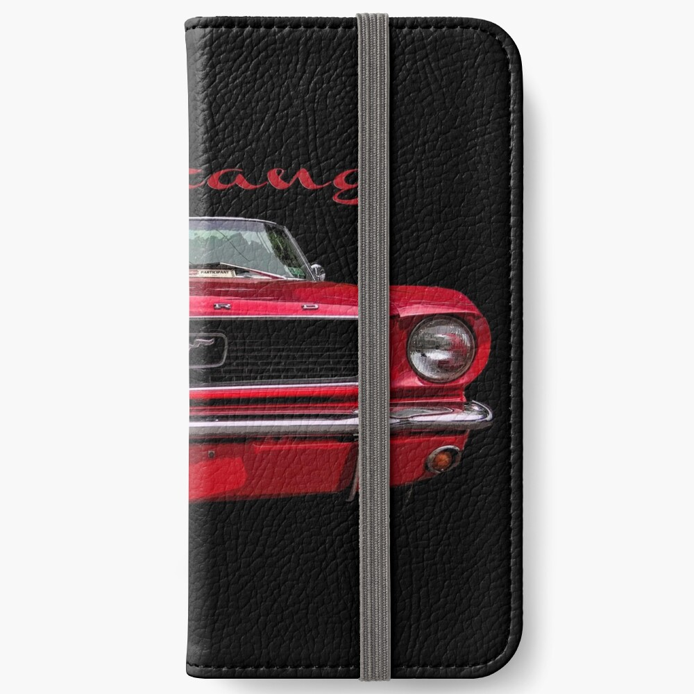 Little Red Mustang iPhone Wallet
