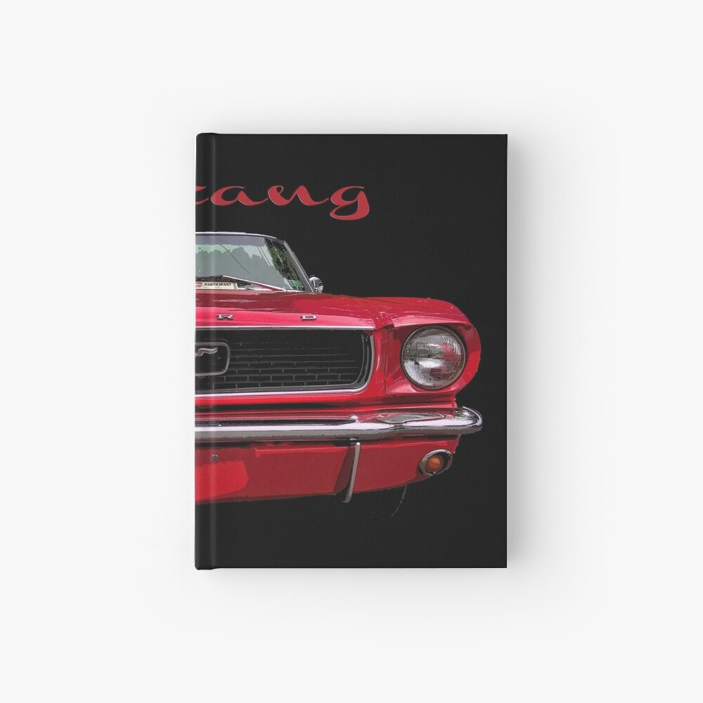 Little Red Mustang Hardcover Journal