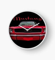 Little Red Mustang Clock
