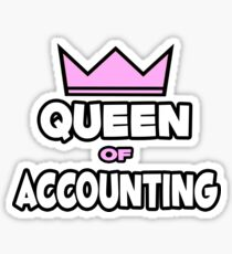 Queen Of Accounting Sticker