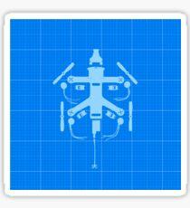 Blueprint Racing Drone Sticker
