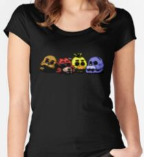 Five Nights at Freddy's 3 - Pixel art - Good Ending Women's Fitted Scoop T-Shirt